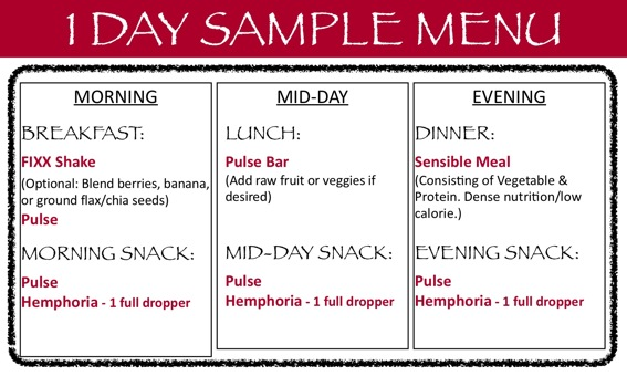 Weight Loss Diet Sample Menu